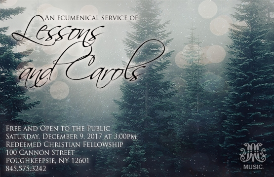Lessons and Carols poster