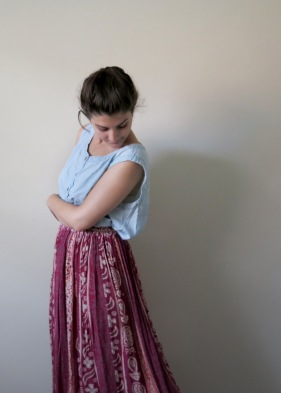 Maxi Skirt and Chambray Shirt